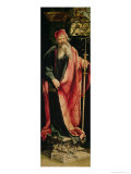 St. Anthony the Hermit, from the Isenheim Altarpiece, circa 1512-1516 Giclee Print by Matthias Grünewald