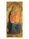 Madonna and Child, Central Panel of a Triptych Giclee Print by  Fra Angelico