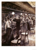 The Berlin Central Telephone Exchange, circa 1890 Premium Giclee Print by Werner Zehme