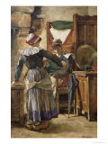 Her First Born Giclee Print by Walter Langley