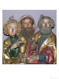 Carvings of Ss. Paul, Matthew and Thomas, from the Predella of the Isenheim Altarpiece, circa 1490 Giclee Print by Nikolaus Hagenauer