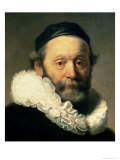 Portrait of Johannes Uyttenbogaert Reproduction proc&#233;d&#233; gicl&#233;e par Rembrandt van Rijn 