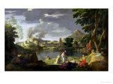 Orpheus and Eurydice Lmina gicle por Nicolas Poussin