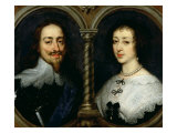 Charles I of England and Queen Henrietta Maria Giclee Print by Sir Anthony Van Dyck