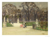 In the Tuileries Giclee Print by Jean-louis Lefort