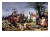 The Battle of Fontenoy, 11th May 1745, 1828 Giclée-Druck von Horace Vernet