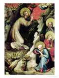 Jesus in the Garden of Gethsemane, from the Trebon Altarpiece, circa 1380 Giclee Print by Master of the Trebon Altarpiece