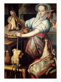 Martha Preparing Dinner for Jesus Reproduction procédé giclée par Pieter Aertsen