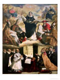 The Apotheosis of St. Thomas Aquinas, 1631 Giclee Print by Francisco de Zurbarán
