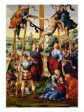 Descent from the Cross, circa 1505-10 Giclée-tryk af Giovanni Antonio Bazzi Sodoma