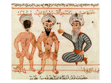 Cauterisation of Leprosy Lesions, 1466 Giclee Print by Charaf-ed-din 