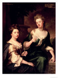 Sarah, Duchess of Marlborough Playing Cards with Lady Fitzharding, 1681 Giclee Print by Godfrey Kneller