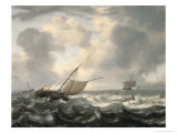 Ships on a Choppy Sea Giclee Print by Hendrik Van Anthonissen