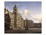 The New Town Hall, Amsterdam, 1668 Giclee Print by Jan Van Der Heyden