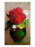 The Red Poppy Giclee Print by Odilon Redon