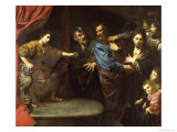 The Judgement of Daniel Or, the Innocence of Susanna Gicl&#233;e-Druck von Valentin de Boulogne 