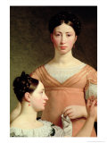 Bella and Hanna Nathansson Giclee Print by Christoffer-wilhelm Eckersberg