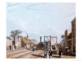 Liverpool and Manchester Railway: Taking Water at Parkside, 1831 Giclee Print by Daniel And Robert Havell