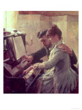 At the Piano Giclee Print by Albert Edelfelt