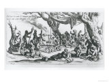 A Birth in a Gypsy Camp Giclee Print by Jacques Callot