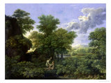 Spring, or the Garden of Eden Lmina gicle por Nicolas Poussin