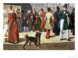 Street Scene in Stockholm Giclee Print by Christoffer-wilhelm Eckersberg