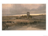 Kirkstall Abbey, Yorkshire - Evening Giclee Print by Thomas Girtin