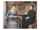 At Home or Intimacy, 1885 Giclee Print by Marie Louise Catherine Breslau