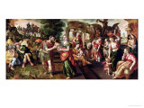 Eliezer and Rebecca at the Well, 1562 Giclee Print by Maarten de Vos