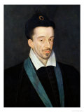 Portrait of Henri III, King of France from 1574, Assassinated in Paris 1589 Giclee Print by Francois Quesnel