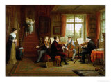 The Music Lesson Premium Giclee Print by Frederick Daniel Hardy