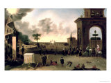 The Narrow Gate to Heaven and the Wide Gate to Hell Giclee Print by Cornelis De Bie