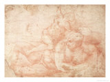 Study of a Male and Female Nude Giclee Print by  Michelangelo Buonarroti