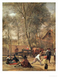 Skittle Players Outside an Inn, circa 1660-63 Giclee Print by Jan Havicksz. Steen