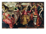 Eliezer Asking for Rebecca to Marry Isaac, 1562 Reproduction procédé giclée par Maarten de Vos