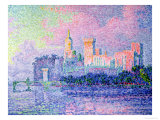The Chateau des Papes, Avignon, 1900 Gicléetryck av Paul Signac