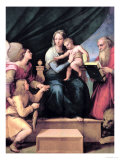 The Madonna of the Fish circa 1513 Reproduction proc&#233;d&#233; gicl&#233;e par Raphael 