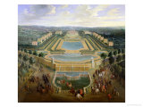 General View of the Chateau and the Pavilions at Marly, 1722 Premium Giclee Print by Pierre-Denis Martin