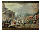 The Translation of the Mortal Remains of Voltaire to the Pantheon in Paris on 10th July 1791 Giclee Print by Louis Jean Francois I Lagrenee
