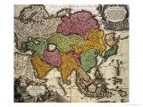 Map of Asia, Nuremberg, circa 1730 Giclee Print by Johann Baptista Homann