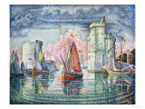 The Port at La Rochelle, 1921 Gicleetryck av Paul Signac