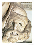 The Tomb of Giuliano De' Medici Detail of the Tragic Mask Under the Arm of Night, 1520-34 Giclee Print by  Michelangelo Buonarroti