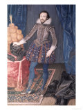 Portrait of Richard Sackville, 3rd Earl of Dorset, 1616 Giclee Print by Isaac Oliver