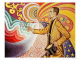 Against the Enamel of Background Rhythmic with Beats and Angels Giclee Print by Paul Signac