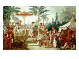 Feast of the Chinese Emperor, Study for a Tapestry Cartoon, circa 1742 Giclee Print by Francois Boucher