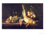 Still Life with Game and Fruit Giclee Print by Luis Menendez Or Melendez