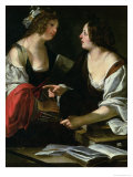 Allegory of Painting and Architecture Giclee Print by Francesco Rustici