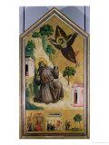 St. Francis Receiving the Stigmata, circa 1295-1300 Giclee Print by  Giotto di Bondone
