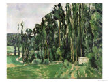 The Poplars, circa 1879-82 Reproduction procédé giclée par Paul Cézanne