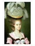 Portrait of a Lady in a Hat Giclee Print by J. Mulnier